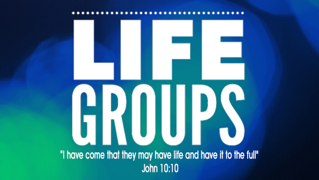 "green & blue life group logo with text ""I have come that they may have life and have it to the full"""