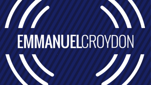 emmanuel croydon blue and white podcast logo
