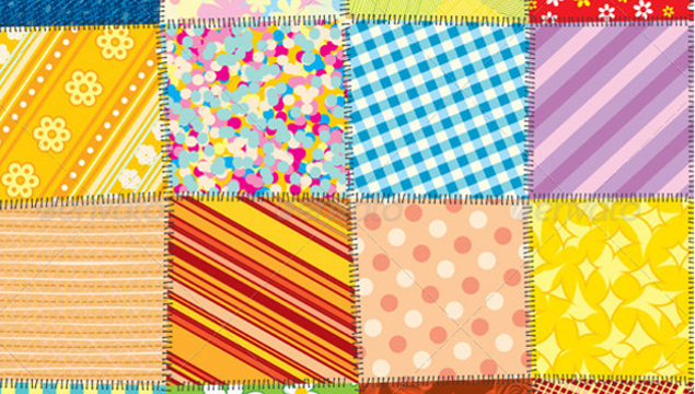 image of brightly-coloured quilting sample