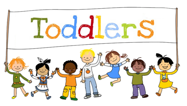 "Toddlers logo - children holding banner with text ""Toddlers"""