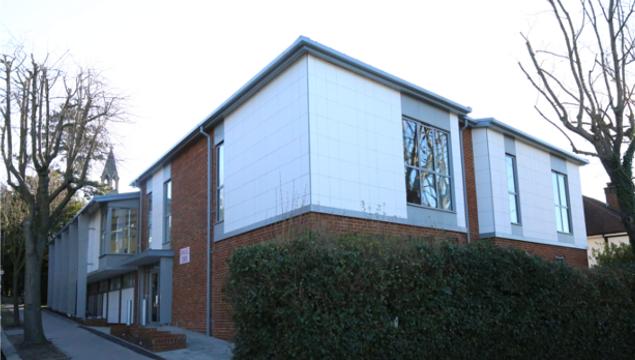 photo of Emmanuel Centre exterior - taken from Rockhampton Road corner